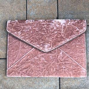 New Rebecca Minkoff Velvet Leo Envelope Clutch